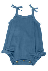 L'oved Baby Muslin Tie Shoulder Bodysuit Pacific