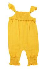 L'oved Baby Muslin Sleeveless Romper Saffron