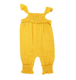 L'oved Baby Muslin Sleeveless Romper Saffron