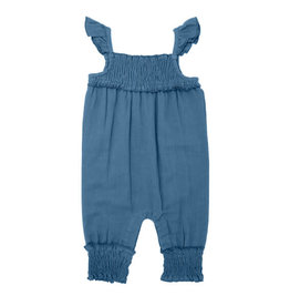 L'oved Baby Muslin Sleeveless Romper Pacific