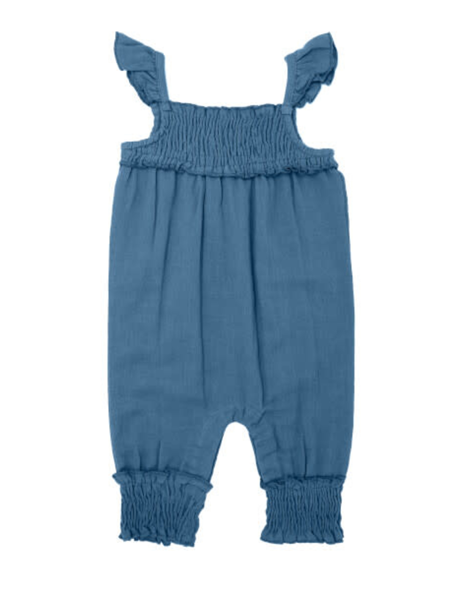 L'oved Baby Kids' Muslin Sleeveless Romper Pacific