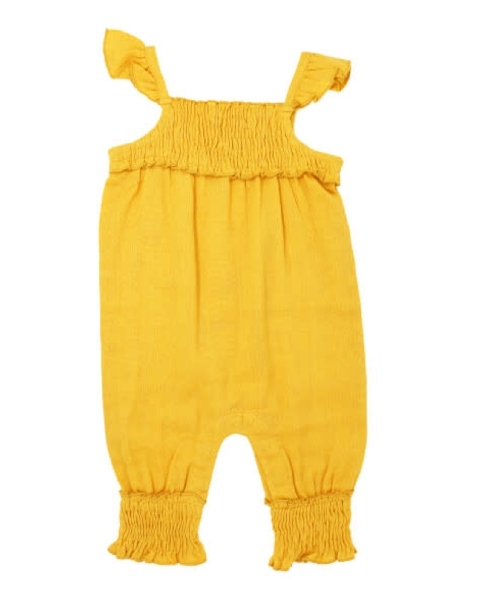 L'oved Baby Kids' Muslin Sleeveless Romper Saffron