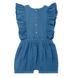 L'oved Baby Kids' Muslin Ruffle Romper Pacific