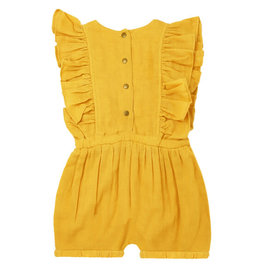 L'oved Baby Kids' Muslin Ruffle Romper Saffron