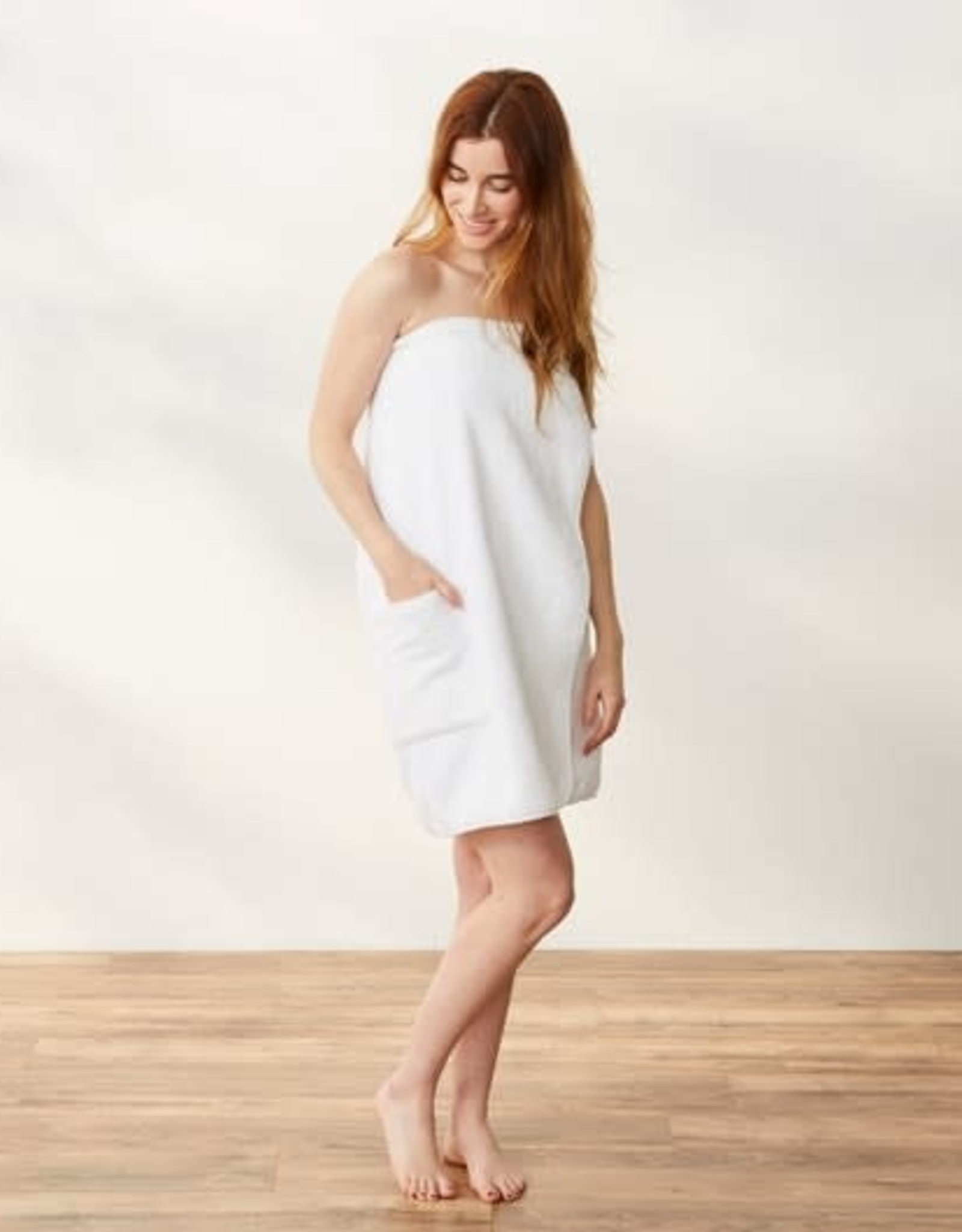 Air Weight Organic Bath Wrap Alpine White