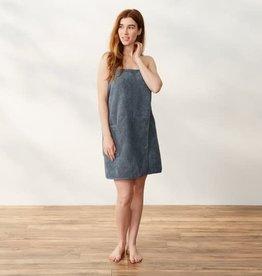 Air Weight Organic Bath Wrap French Blue