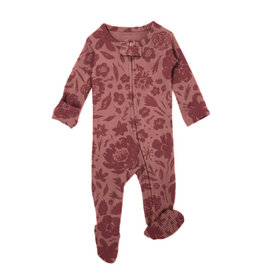 L'oved Baby Zipper Footie What in Carnation?