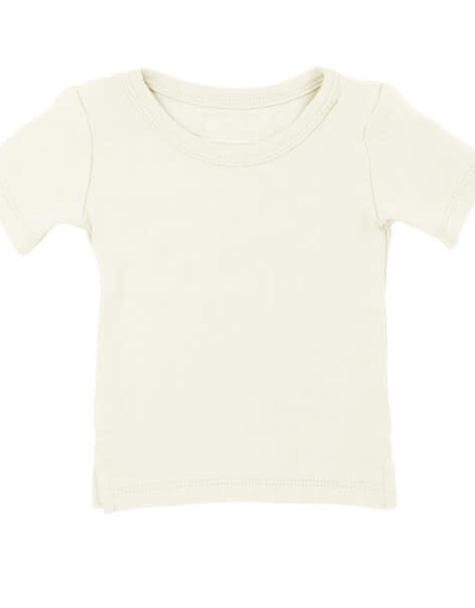 L'oved Baby Kids' Short Sleeve Shirt Beige