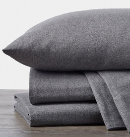 Cloud Brushed Flannel Sheet Set Charcoal Heather Queen