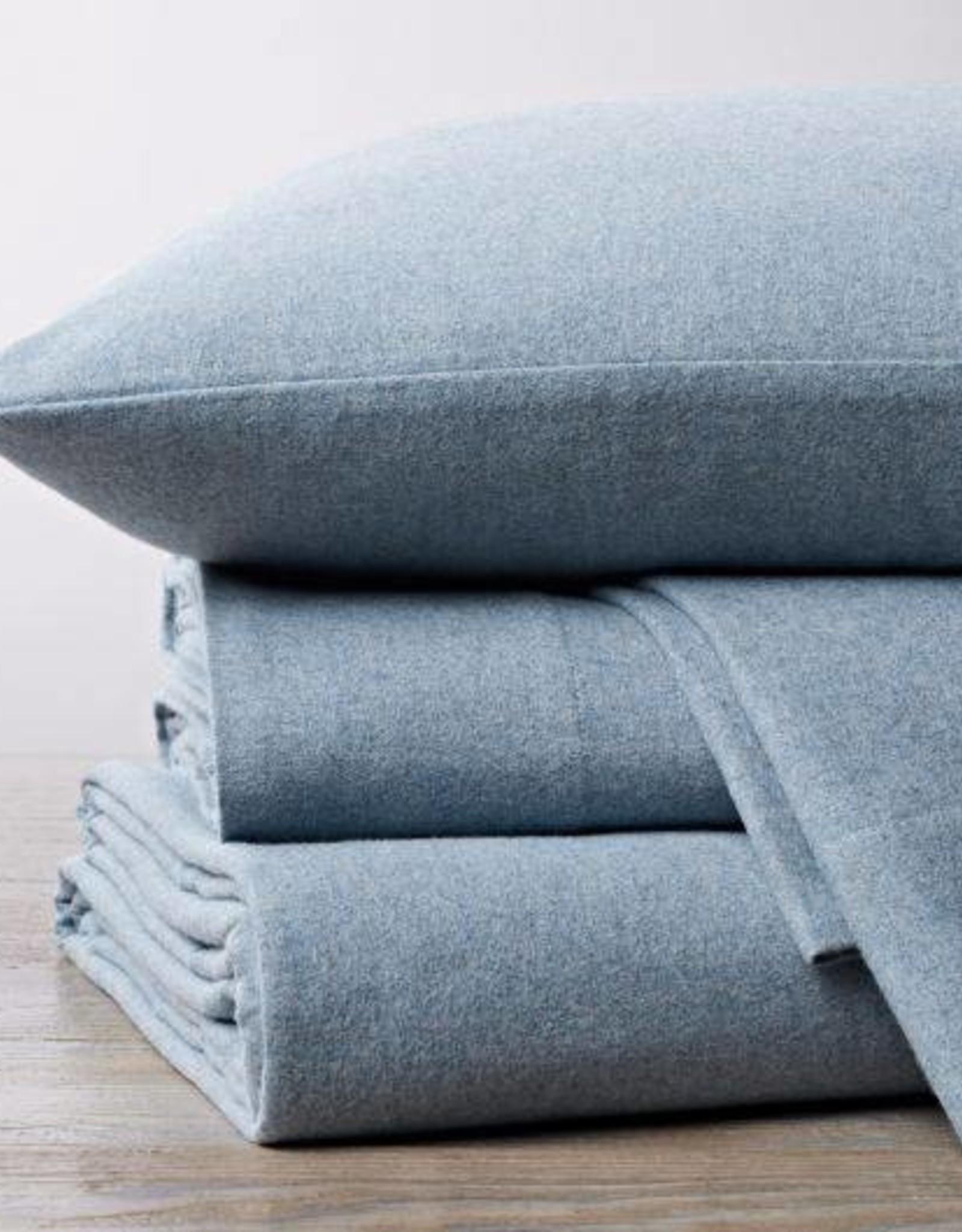 Cloud Brushed Flannel Sheet Set Blue Heather King
