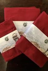 Flat Sheet Twin Ruby Red