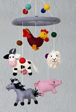 The Winding Road Wool Mobile - Farm Animals