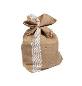 White Stripe Jute Gift Wrap
