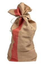 Red Stripe Jute Gift Wrap