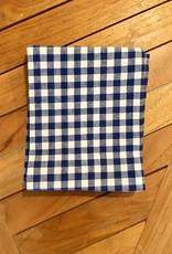 Organic Dish Towel Gingham Check Indigo