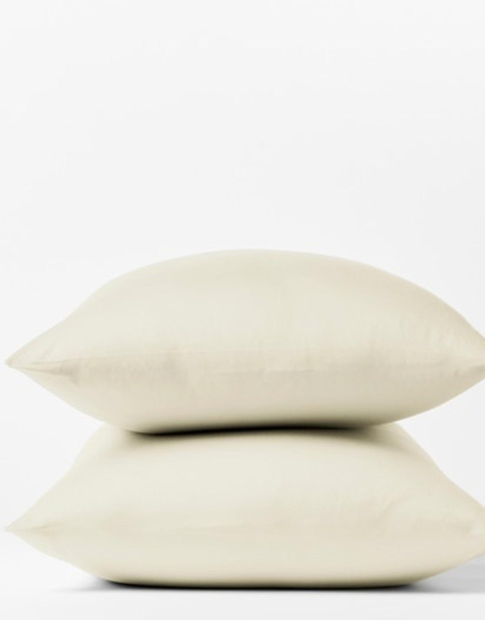 300TC Sateen Pillowcase Set Natural/Undyed