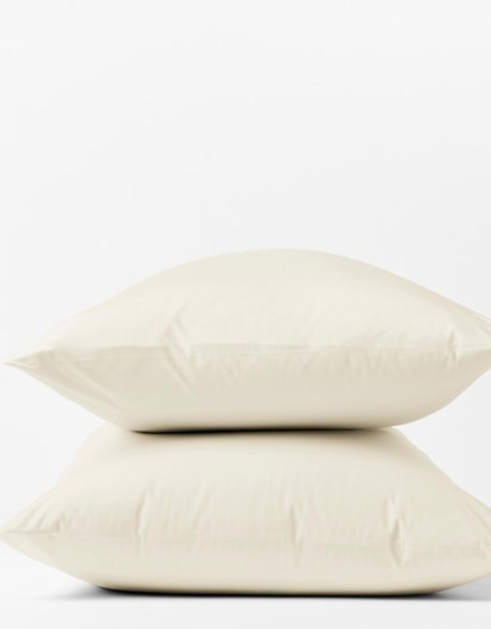 300TC Percale Pillowcase Set Natural/Undyed