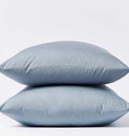 300TC Percale Pillowcase Set Steel Blue