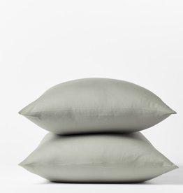 300TC Sateen Pillowcase Set Pale Gray