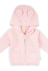Tiny Twig Knitted Hoodie with Ears Soft Pink
