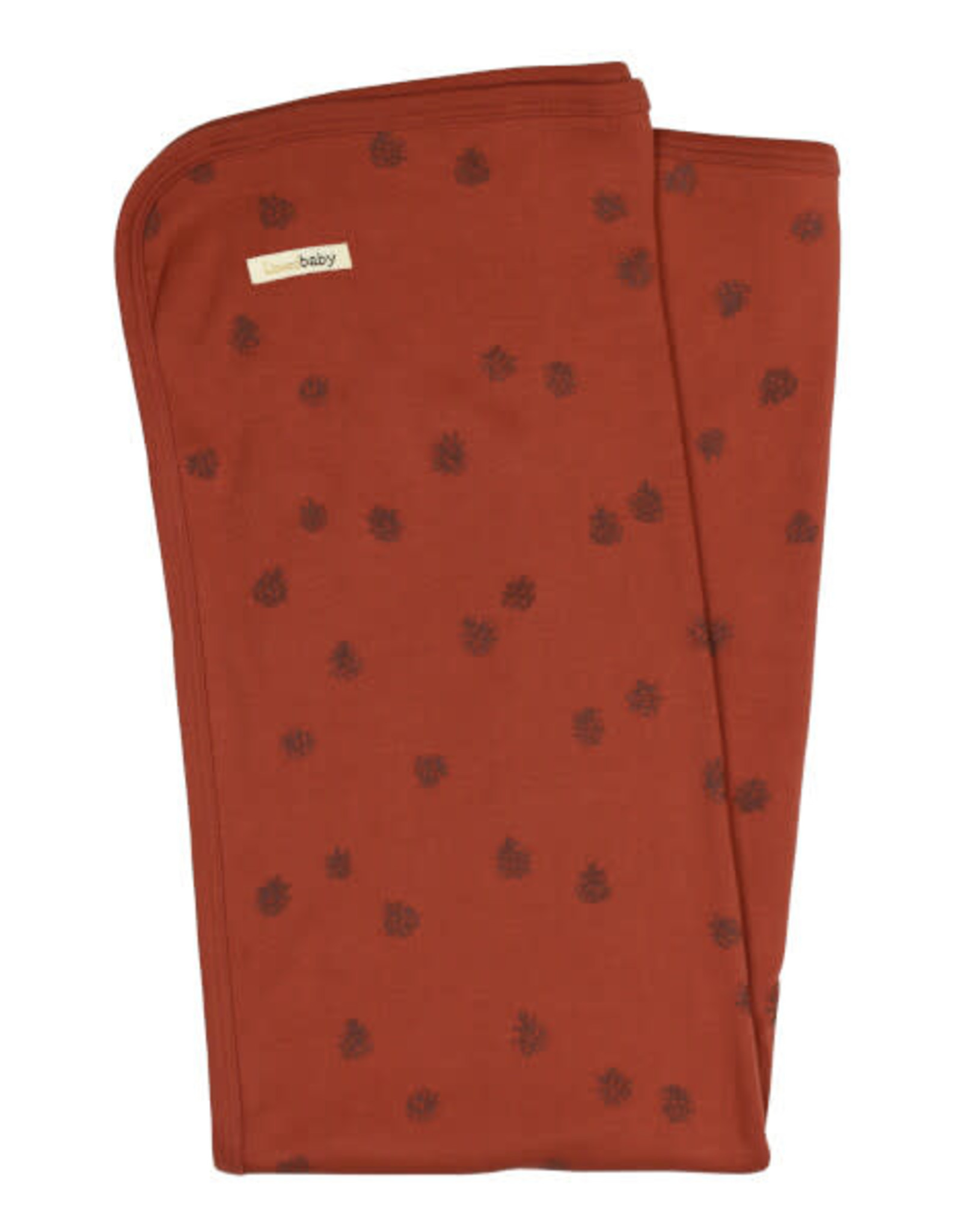 L'oved Baby Cinnamon Pinecone Swaddle Blanket