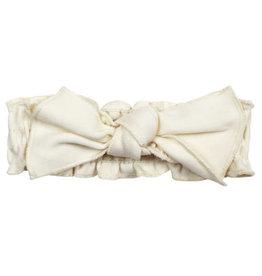 L'oved Baby Smocked Tie Headband Buttercream 0-12m