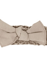 L'oved Baby Smocked Tie Headband Oatmeal 0-12m