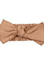 L'oved Baby Smocked Tie Headband Nutmeg 0-12m