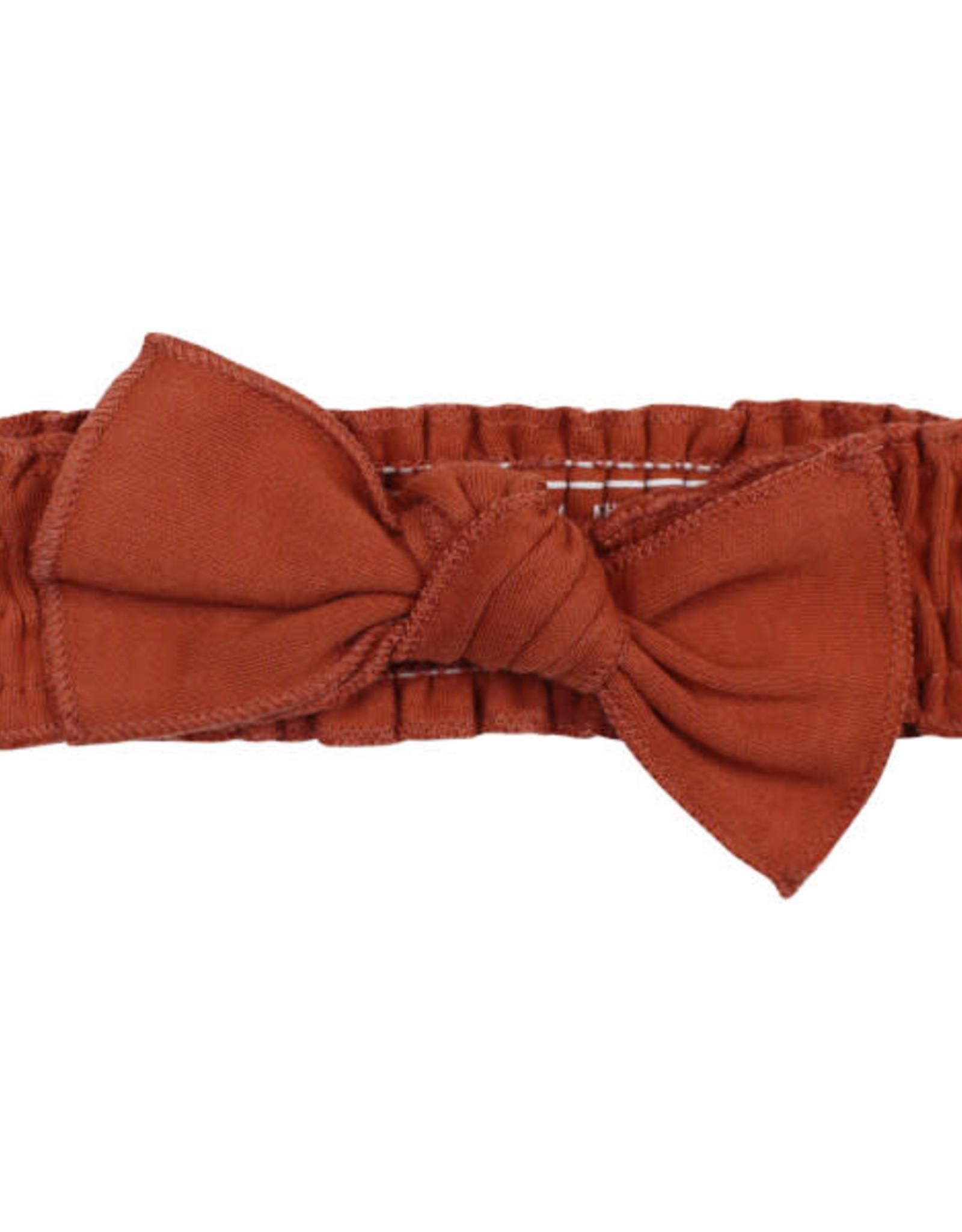 L'oved Baby Smocked Tie Headband Cinnamon 0-12m