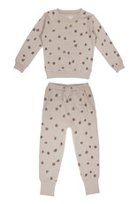 L'oved Baby Kids Oatmeal Sweatshirt & Jogger Set with Pinecone Print