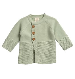 Tiny Twig Sage Three Button Knitted Cardigan