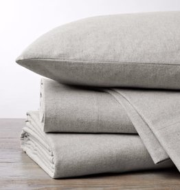 Cloud Brushed Flannel Sheets Pale Gray Heather