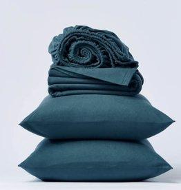 Cloud Brushed Flannel Sheet Set Aegean