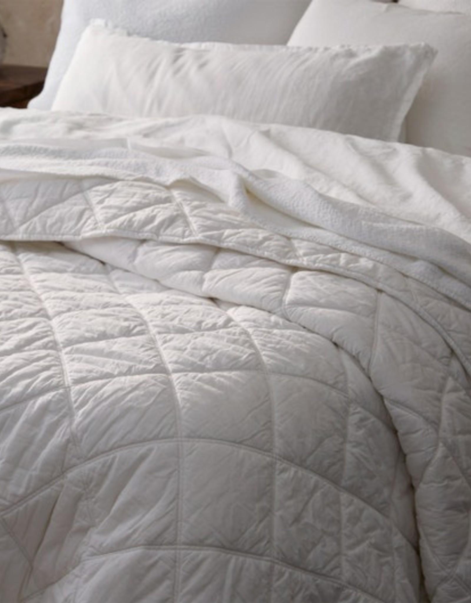 Diamond Stitched Organic Cotton Comforter White
