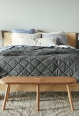 Diamond Stitched Organic Cotton Comforter Shadow