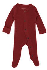 L'oved Baby Thermal Footie Crimson
