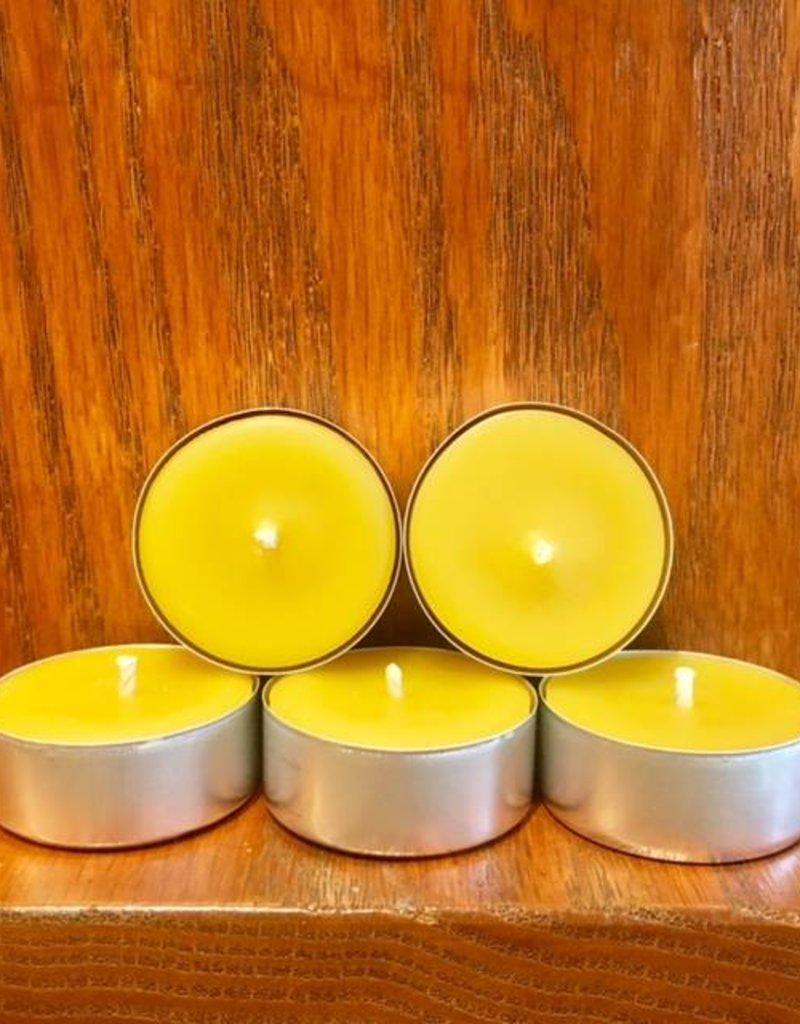 Kimberlis Garden Creations Beeswax Tea Light Candle