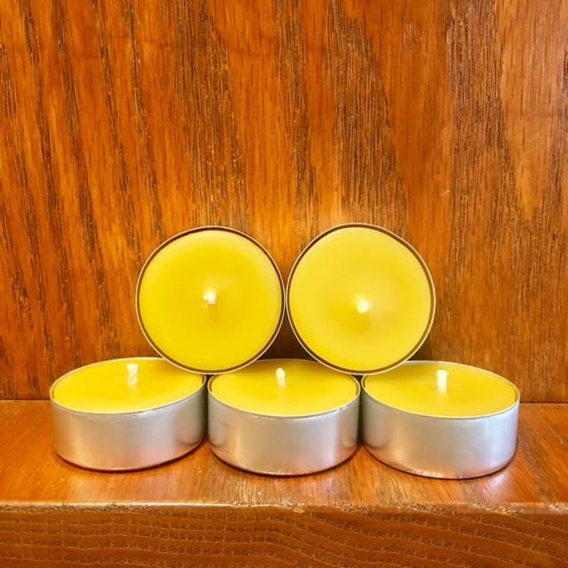 Kimberlis Garden Creations Beeswax Tealight Candle