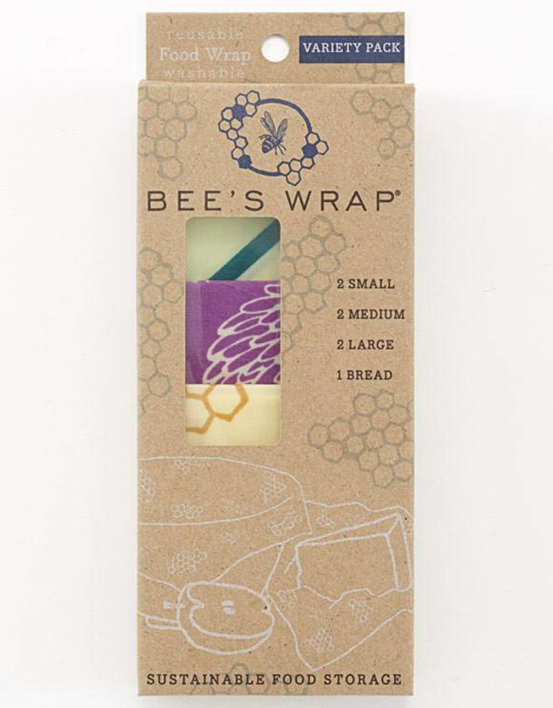 Bee's Wrap Variety Pack (2 Small, 2 Medium, 2 Large, 1 Bread)