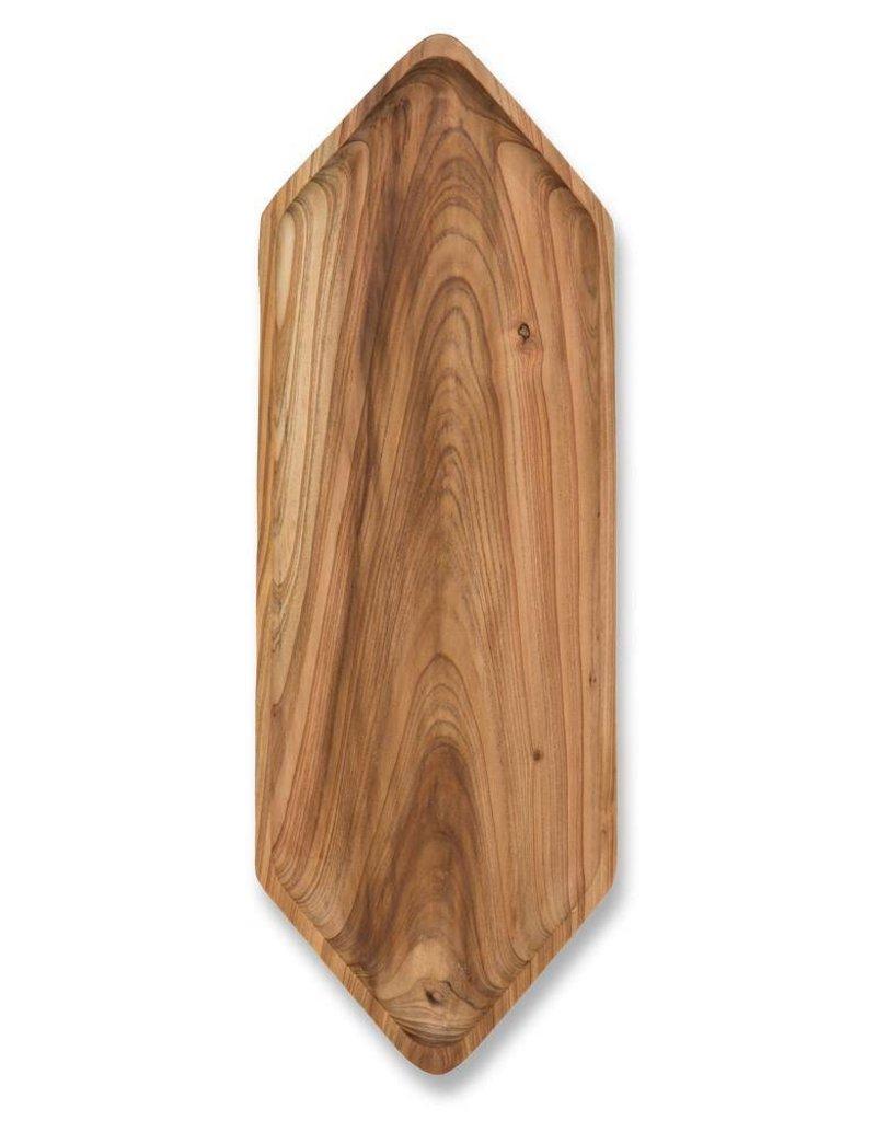 Cedar Wood Hex Tray- Long