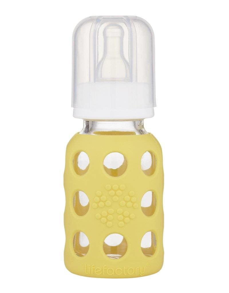 Glass Baby Bottle with Protective Silicone Sleeve (4oz)