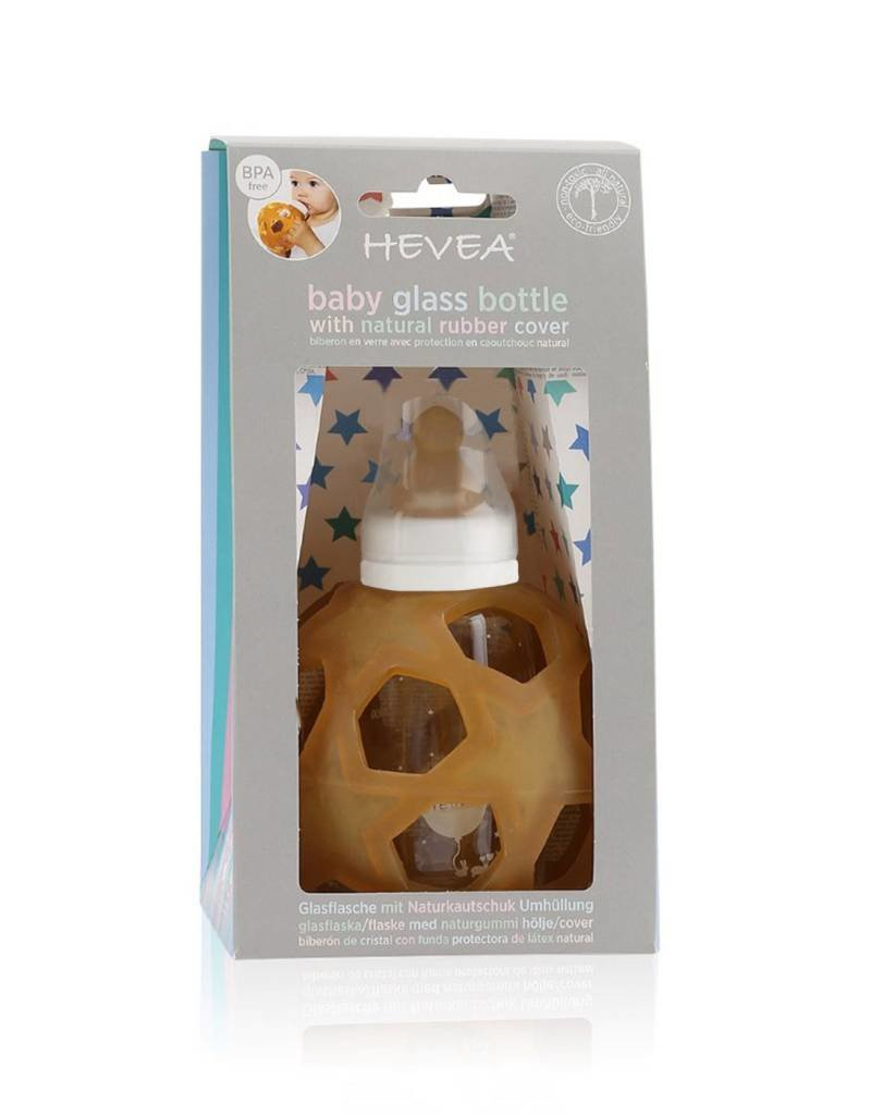 Hevea 2-in-1 Baby Glass Bottle with Star Ball
