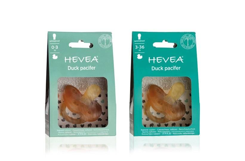 Hevea Duck Symmetrical Pacifier