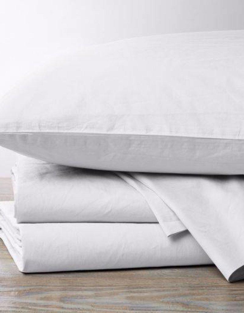 220 Percale Sheet Set-White, Queen