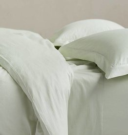 Sateen Duvet Cover- Aloe, Queen
