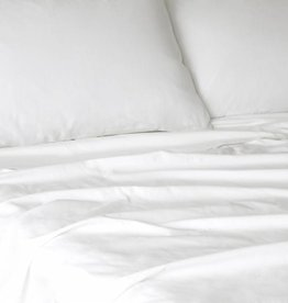 Glo Sateen Sheets (White), Twin Fitted