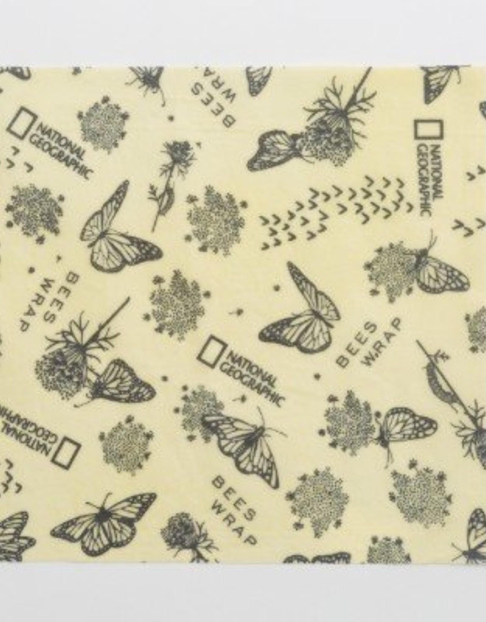 Bee's Wrap Explorer Pack- 2 Medium, 1 Sandwich Wrap- Monarch Print