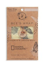 Beeswrap Explorer Pack- 2 Medium, 1 Sandwich Wrap- Monarch Print