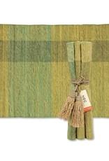Vetiver Table Linens- Green Blocks
