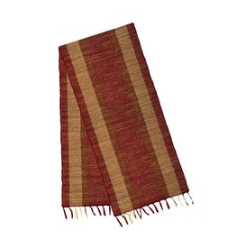 Vetiver Table Linens- Marsala Bronze